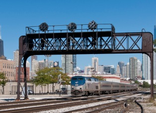 Hiawath Amtrak train in Chicago