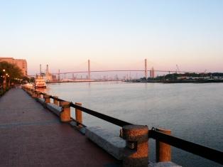 Savannah River in downtown Savannah