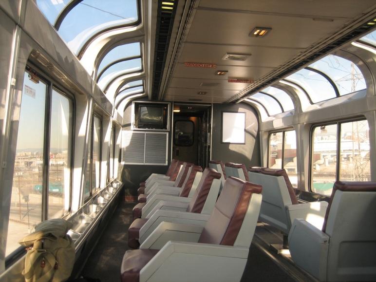 Amtrak observation car on Southwest Chief