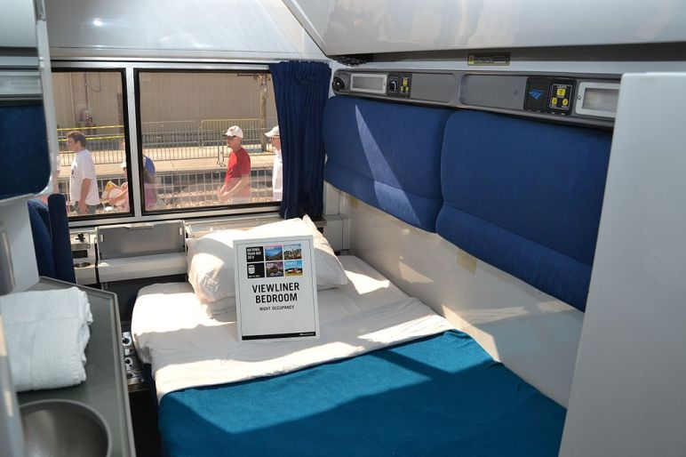 Amtrak Viewliner Bedroom