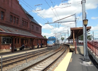 New London Amtrak Station in CT