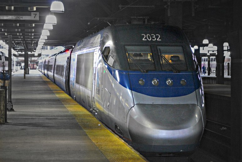 Acela Express Amtrak train in Boston