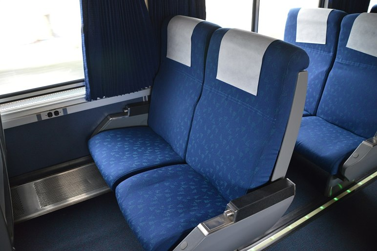 Amtrak seats