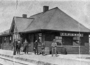 Old Ft. Pierre train depot in South Dakota