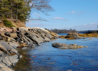 Freeport Maine shoreline