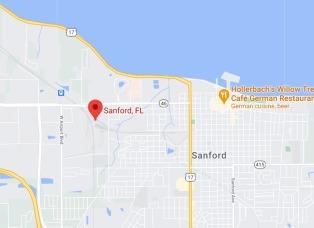 Sanford Auto Train Station Map