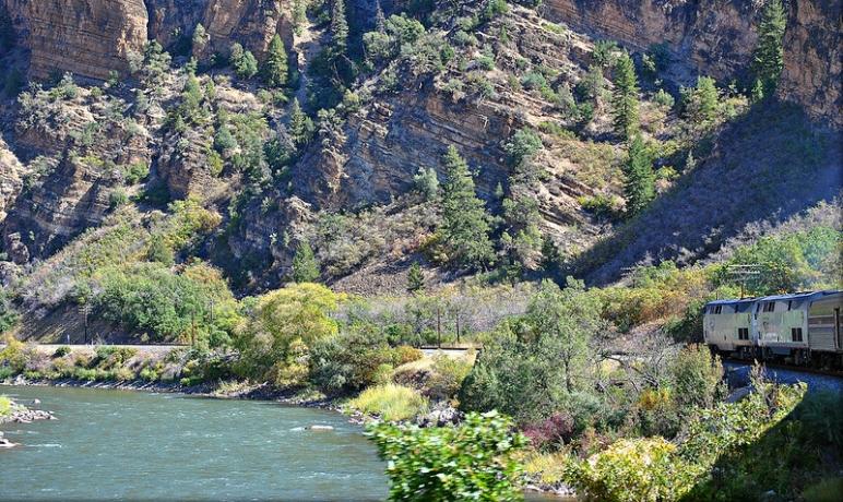 California Zephyr in Glenwood Canyon