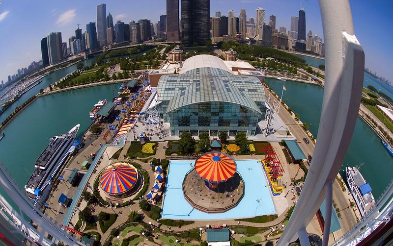 View from Navy Pier Ferris Wheel