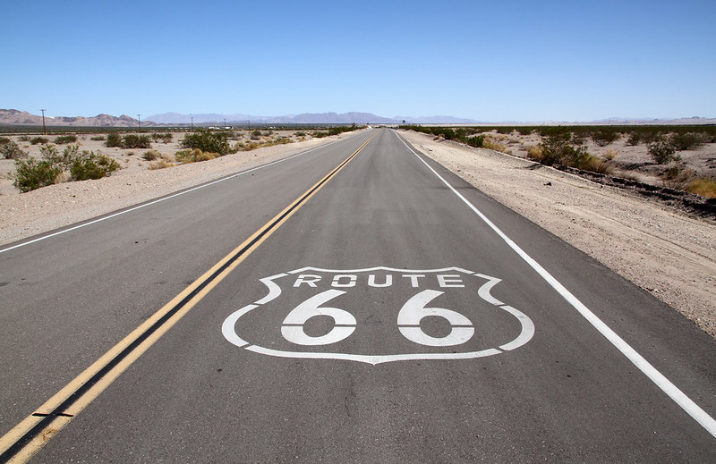 Route 66 in Mojave Desert